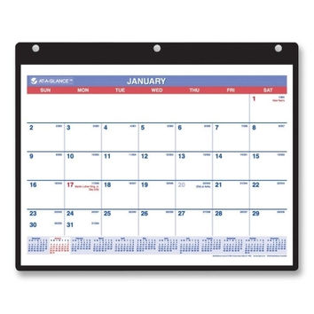 """at-a-glance monthly desk/wall calendar,english,jan-dec,1ppm,11""""x8-1/4"""" Case of 3"""
