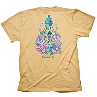Cherished Girl Be Light for All to See Lantern Girlie Christian Bright T Shirt