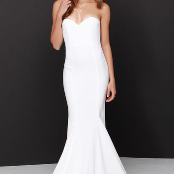 Sorella Ivory Strapless Maxi Dress