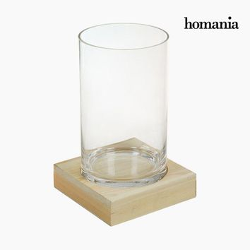 Vase Glass Wood - Pure Crystal Deco Collection by Homania