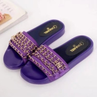 Chanel shoes, new 17 Spring Chain slippers, silk and satin sandals H-TFDXY-XNEDX