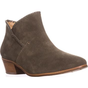 Jack Rogers Sadie Flat Ankle Boots, Olive Suede, 9.5 US