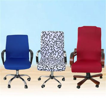 Elastic Computer Chair Cover Spandex Office Chair Cover Dining Chair Washable Removable Rotating Chair Cover