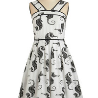 Dear Creatures Nautical Long Sleeveless A-line Giddy Upstream Dress