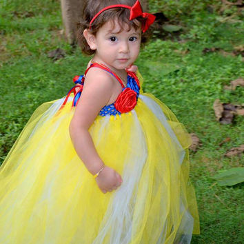 Snow White tutu dress costume - girls tutu, snow white tutu, princess tutu, halloween, dressup, birthday dress