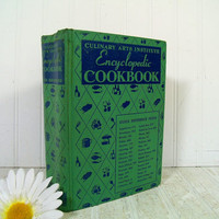 Vintage Culinary Arts Institute Encyclopedic Cookbook - Mid Century Complete Oversized 1950 Cookbook with Illustrations - Ruth Berolzheimer