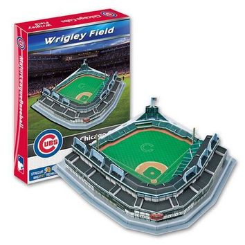 Candice guo 3D puzzle DIY toy paper building assemble hand work game model Baseball wrigley field chicago cubs stadium gift 1set