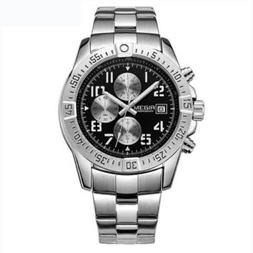 Business Men Watch Luxury Brand Stainless Steel Wrist Watch Army Military Quartz Watches