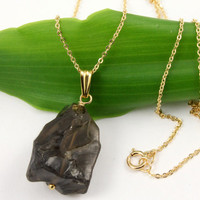 Smoky Quartz Necklace  Silver or 14K Gold Filled  by LiansElegance