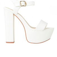 Lipstik Shoes - Prize Heel - White