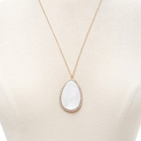 Faux Stone Pendant Necklace   Forever 21 - 1000222994