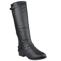 Womens Knee High Riding Boots Black