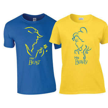 Disney Beauty and the Beast Matching Couples Shirts an Hoodies with Colors