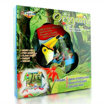 Origami Animals Kit Safari Birds Edition - for Mid to Advance Levels