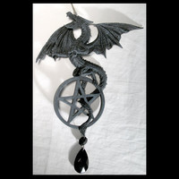 "8"" Dragon Pentagram Dream Catcher"