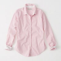 Womens Striped Poplin Shirt | Womens Tops | Abercrombie.com