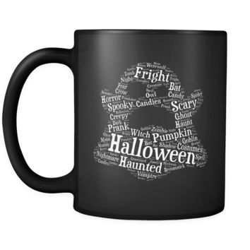 Halloween Ghost Black Mug