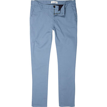 River Island MensTeal skinny chino pants