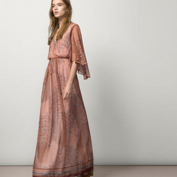 PRINTED DRESS - Dresses - WOMEN - Spain - Massimo Dutti