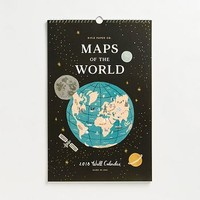 2018 Maps of the World Calendar.