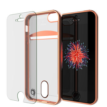 iPhone SE/5S/5 Case, PUNKCASE® LUCID Rose Gold Series   Card Slot   Screen Protector   Ultra fit