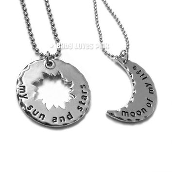 My Sun and Stars, Moon of My Life - Game of Throne inspired Couples Necklace (R2G3)