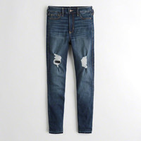 Girls Stretch High-Rise Crop Super Skinny Jeans | Girls New Arrivals | HollisterCo.com