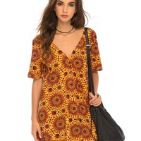 Deena Swing Dress in Hot Sun Yellow by Motel