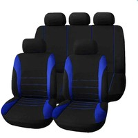2017 High Quality Car Seat Cover Universal 9 Set Full Seat Covers for Crossovers Sedans Auto Interior Styling Decoration Protect