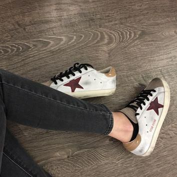Golden Goose Superstar Sneakers Burgundy