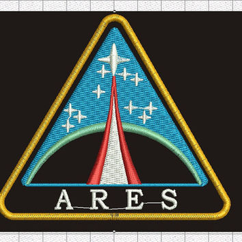 Nasa space patch / nasa name patch - Machine Embroidery Design