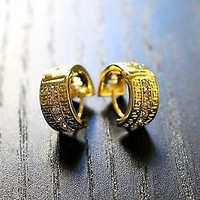 Mens Gold Hoop Earrings - Male Earrings, Mens Earrings, Earrings for Men
