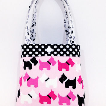 Toddler Tote Little Purse Scottie Dog Pink Birthday Gift