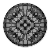 Dark kaleidoscope pattern ceramic knob