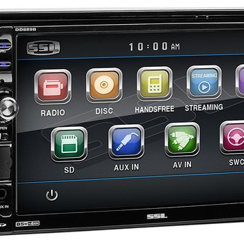 "Sound Storm DD889B Double Din Bluetooth, DVD/CD/MP3/USB/SD AM/FM Receiver, 7"" Detachable Widescreen Touch Screen Digital Monitor, Wireless Remote"