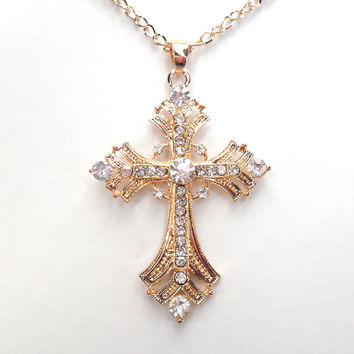 Free Shipping Crosses jewelry for women Gold silver Plated Pendant Necklace With Chain Necklaces & Pendants