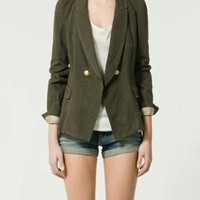 STRIPED BLAZER WITH EDGING - Jackets - Woman - New collection - ZARA United States