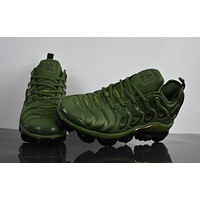 "2018 Nike Air Max Plus TN VM ""Amry Green"" Vapormax Vapor Max Woman Fashion Running Sneakers Sport Shoes"