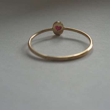 Tiny 14k gold ruby ring,   skinny ruby ring,  stackable gold ruby ring,  july birthstone,natural ruby, red,gold jewelry, tiny ring, handmade