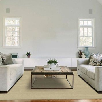Ruggable 2-Piece Washable Rug - Solid Textured Cream
