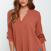 Wayfaring Wanderer Rust Orange Top