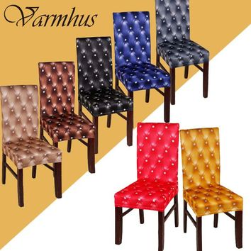Varmhus Soft Spandex Stretch Dining Chair Cover For Weddings Banquet Hotel Restaurant Chair Covering