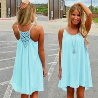 Women Beach Dress Fluorescence Summer Dress Chiffon Women Dress  Summer Style