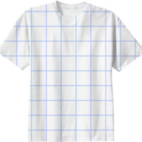Blue Grid Tee created by jlhoon | Print All Over Me