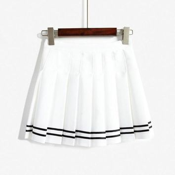ESBHD2 Fashion Casual Ruffle High Waist Skirt