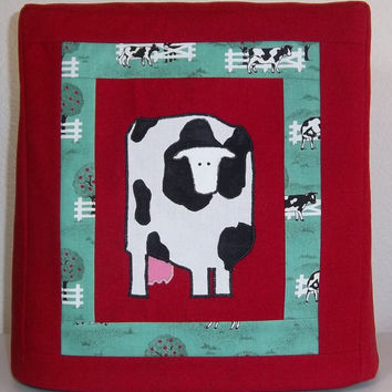 Kitchenaid Mixer Cover, Red Mixer Cover with Cow, Cow Mixer Cover, Cow Kitchen Decor
