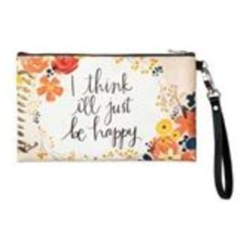Zippered Bag - Just Be Happy