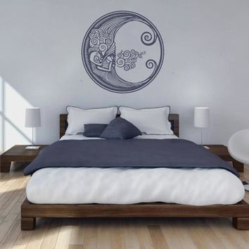 ik1559 Wall Decal Sticker month moon night sky bedroom bedroom