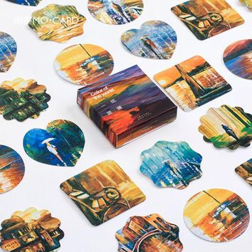 Retro Scenery DIY Scrapbook Paper Lable Sticker Planner Sticker Crafts Scrapbooking Decorative Sticker Posters Cute Stationery