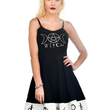 """Women's """"Witch"""" Spell Dress by Rat Baby (Black)"""